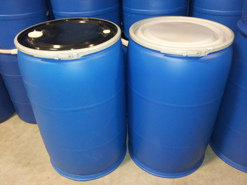 New Drums Never Used Factory Seconds Come With Lids Gasket Off Color Spec Blue And Black 55 Gallon Open Head Poly