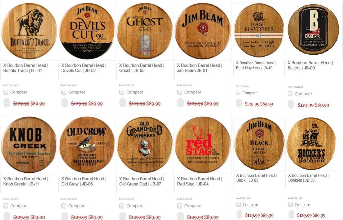 kentucky bourbon barrel heads authentic jim beam whiskey barrel table