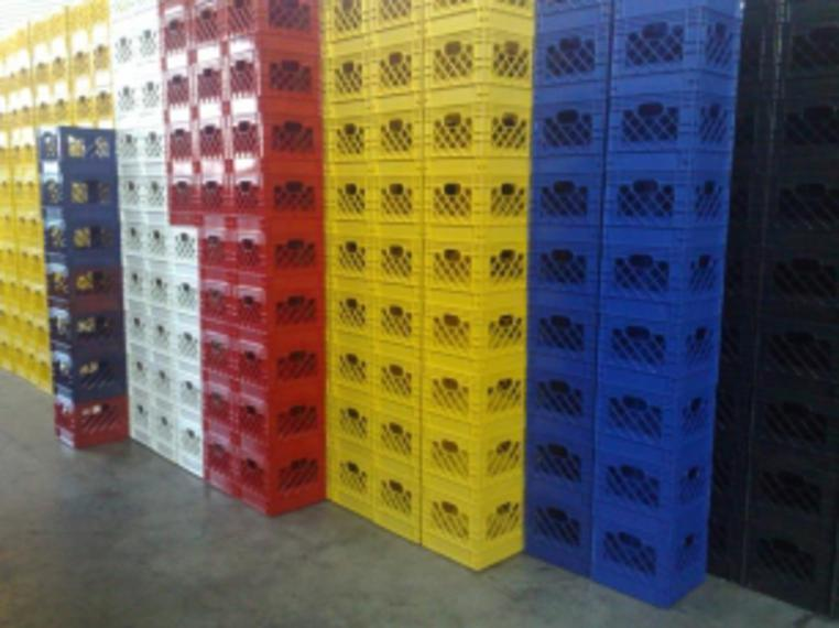 new milk crate or new dairy crate